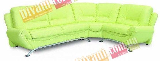 Кожаный угловой диван Саванна - 265x228 см