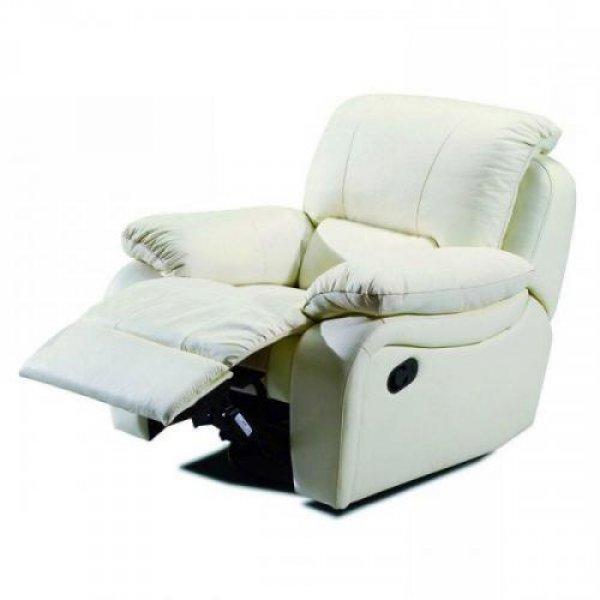 Кожаное кресло Alaska 100-98rs реклайнер + вращение + качание