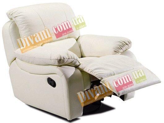 Кожаное кресло Alaska 100-98e электрический реклайнер