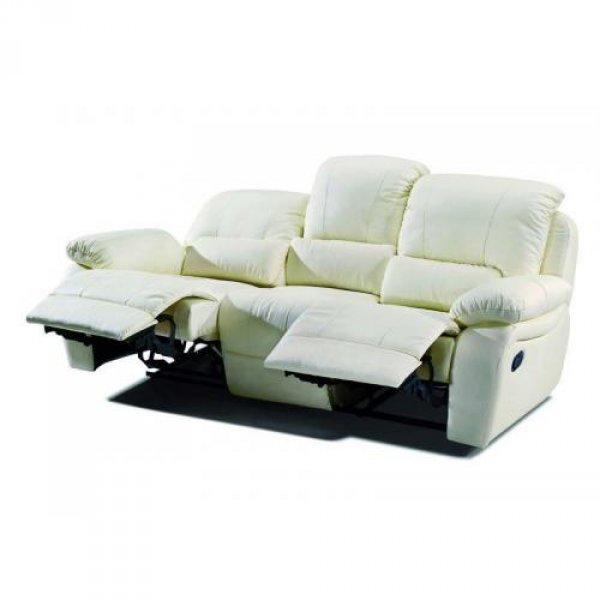 Кожаный диван Alaska 100-39 с двумя реклайнерами