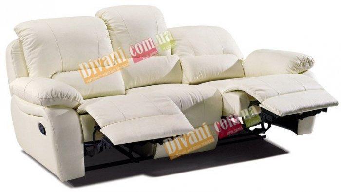 Кожаный диван Alaska 100-39e с двумя электрическими реклайнерами