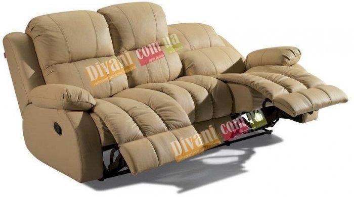 Кожаный диван Arizona 200-39e с двумя электрическими реклайнерами