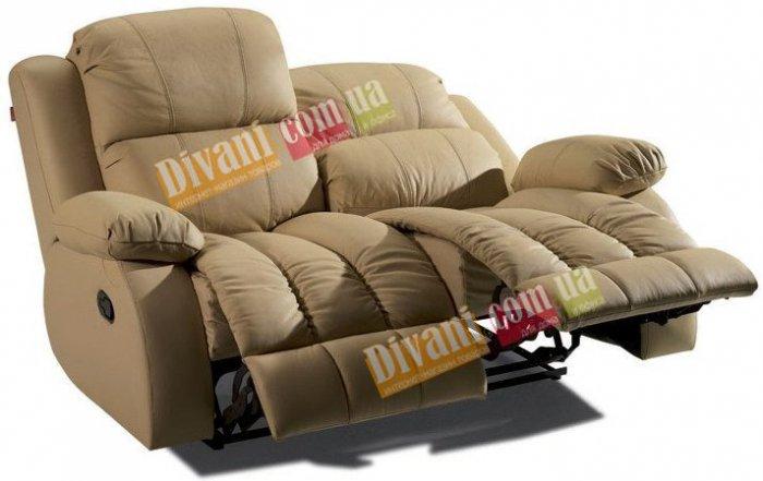 Кожаный диван Arizona 200-29e двойка с двумя электрическими реклайнерами