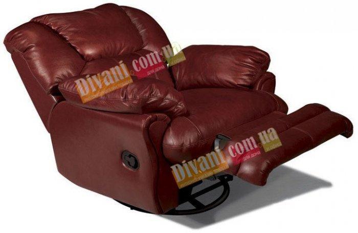 Кожаное кресло Indiana 400-98rs реклайнер + вращение + качание