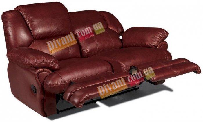 Кожаный диван Indiana 400-29e с двумя электрическими реклайнерами