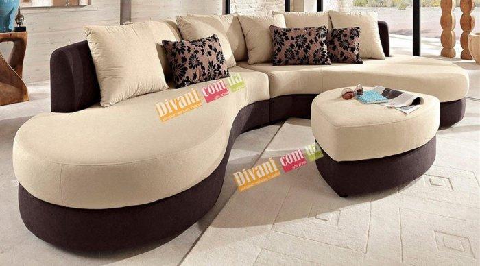 Кожаный угловой диван Хилтон