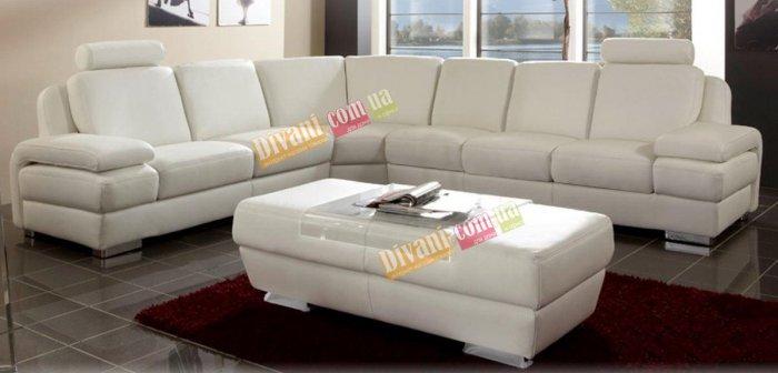 Кожаный угловой диван Апполо