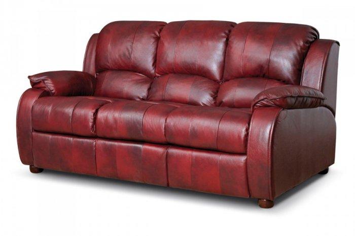 Кожаный диван Minnesota 500-39 с двумя реклайнерами