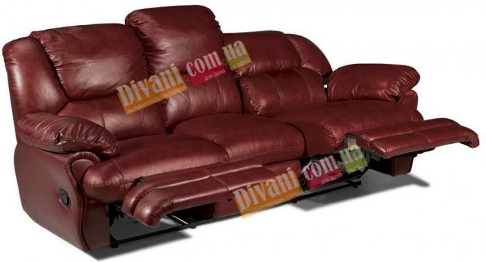 Кожаный диван Minnesota 500-39e с двумя электрическими реклайнерами