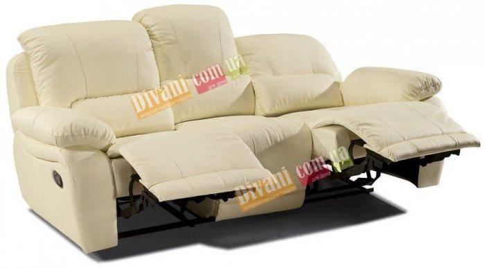 Кожаный диван California 700-39 с двумя реклайнерами