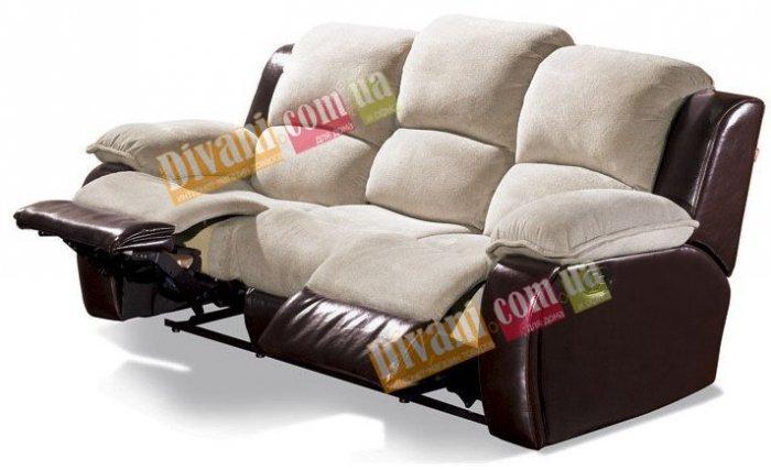 Кожаный диван Louisiana 800-39 с двумя реклайнерами