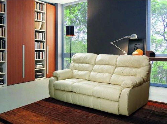 Кожаный диван Dakota 250-39e с двумя электрическими реклайнерами