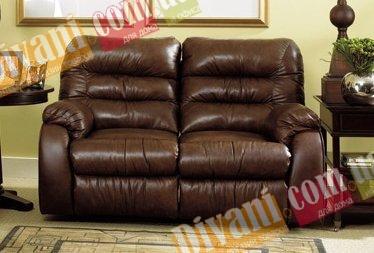 Кожаный диван Dakota 250-29e с двумя электрическими реклайнерами