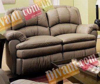 Кожаный диван Carolina 450-29e с двумя электрическими реклайнерами