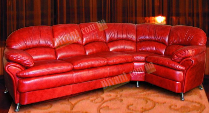 Кожаный угловой диван Анжелика
