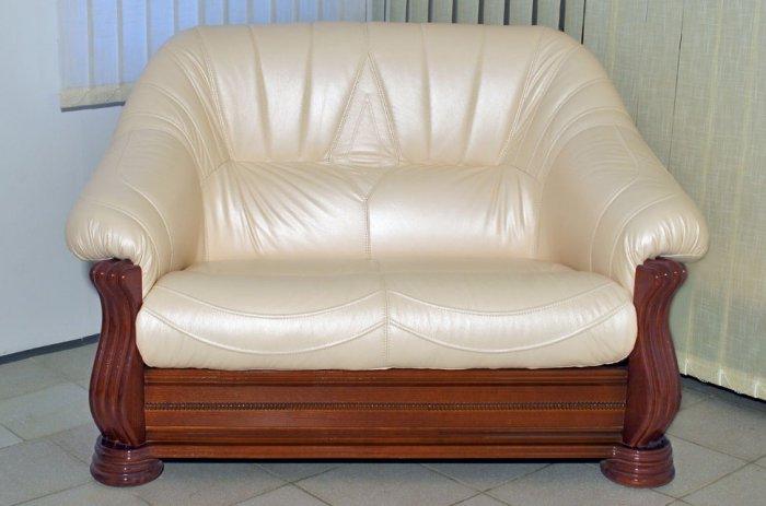 Кожаный диван Монарх 2н