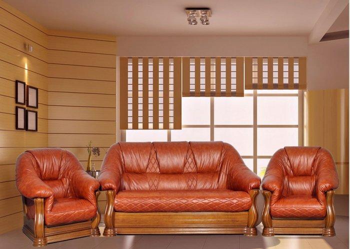 Кожаный диван Маркиз 3н