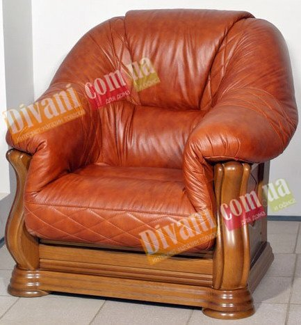 Кожаное кресло Маркиз увеличенное