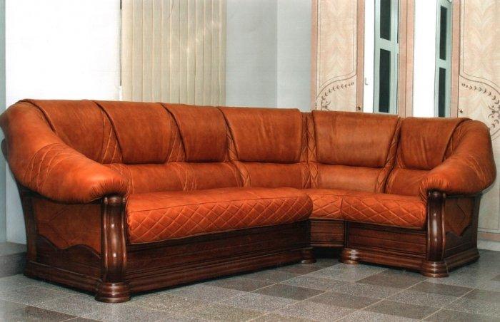 Угловой кожанный диван Маркиз 3+угол+3