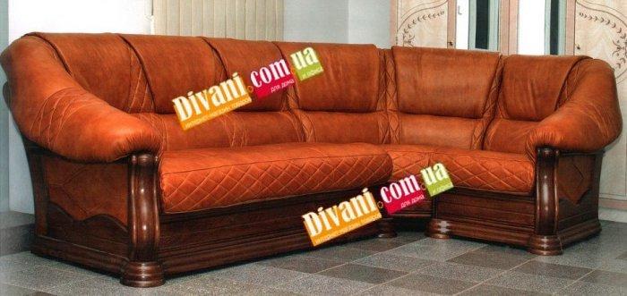Угловой кожанный диван Маркиз 3+угол+4