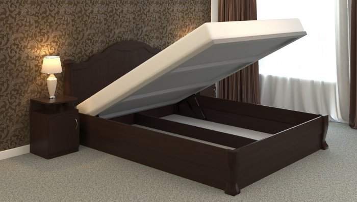 Двуспальная кровать Татьяна-элегант - 160x200см c механизмом