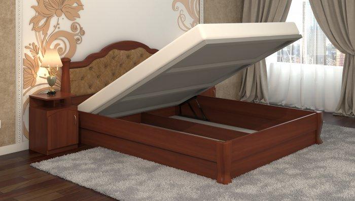 Полуторная кровать Татьяна-элегант Люкс - 120x200см c механизмом