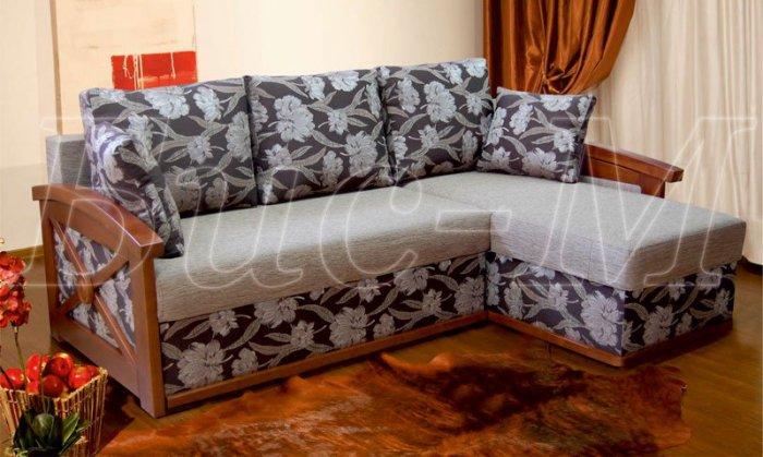 Угловой диван Женева длинный бок