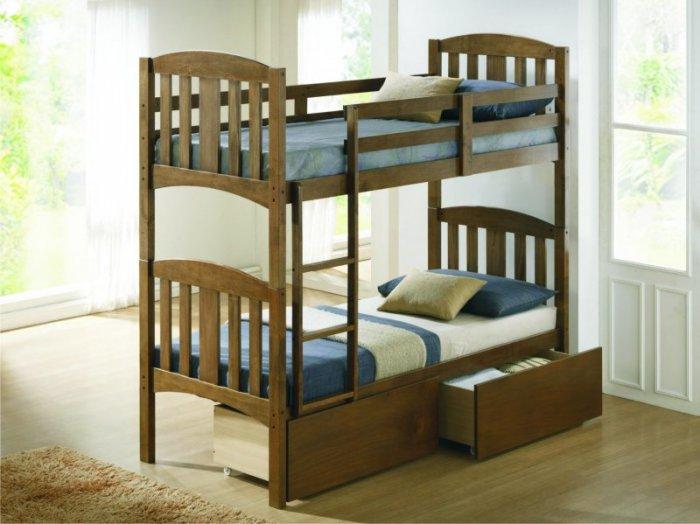 Двухъярусная кровать Мальвина - 190x80см