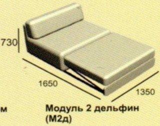 Модуль диван Неаполь М2д