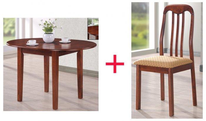 Комплект Стол Platon + 4 стул а Lino