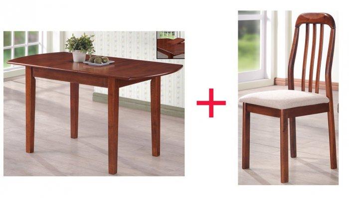 Комплект Стол Santo + 4 стул а Adan