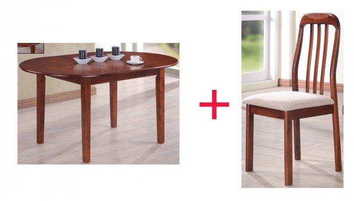 Комплект Стол Gaspar + 4 стул а Adan