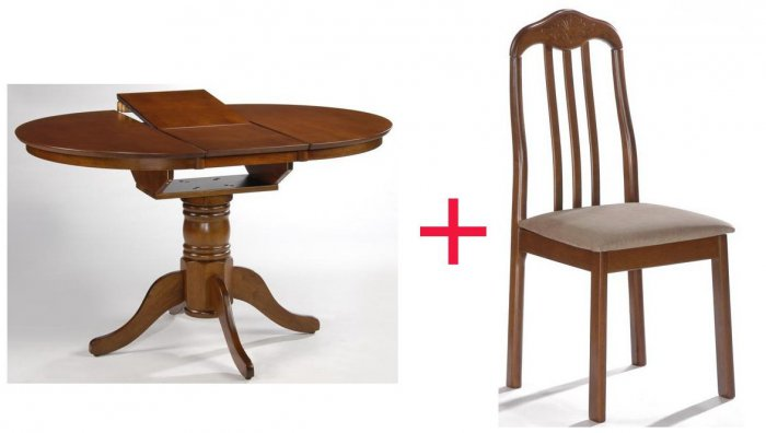 Комплект Стол Mateo + 4 стул а Timur
