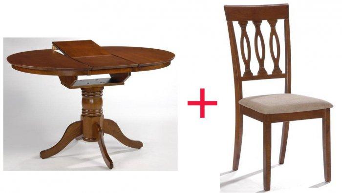 Комплект Стол Mateo + 4 стул а Bora
