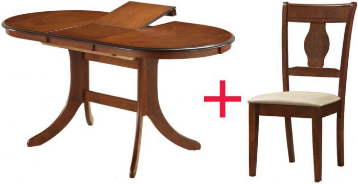 Комплект Стол Fabio + 4 стул а Oscar KA-70
