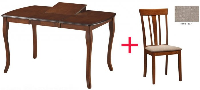 Комплект Стол Louis 1300 + 4 стул а Goran 337