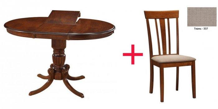 Комплект Стол Emin + 4 стул а Goran 337