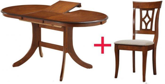 Комплект Стол Fabio 1200 + 4 стул а Erdal 337