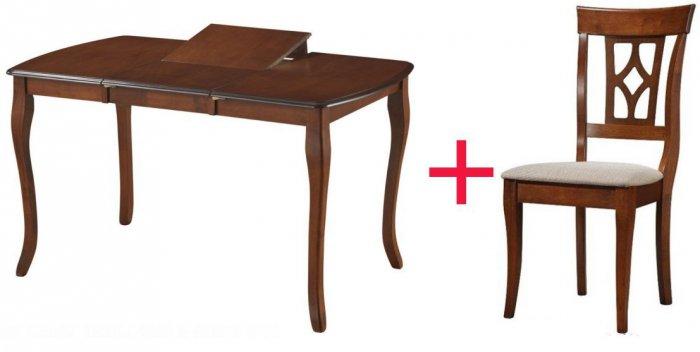 Комплект Стол Louis 1300 + 4 стул а Erdal 337