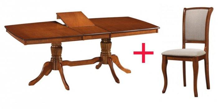 Комплект Стол Carlo + 6 стул ев Farid