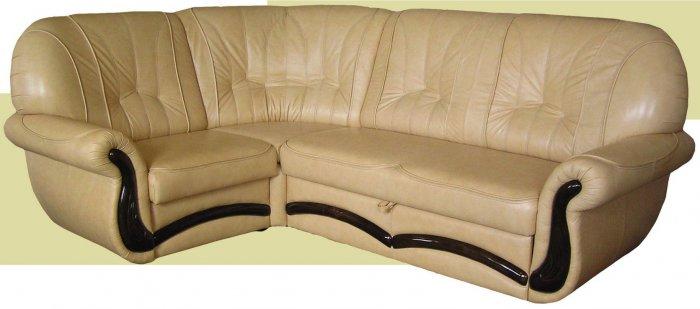 Кожаный угловой диван Версаль