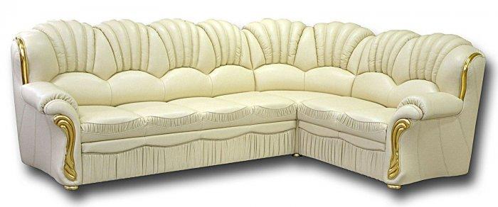 Кожаный угловой диван Гранд-Н