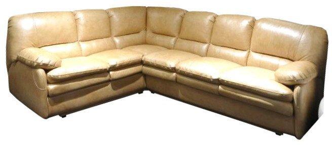 Кожаный угловой диван Чирз 1.7х2.75