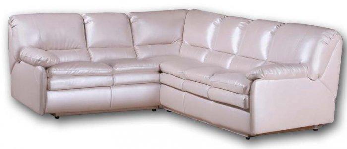 Кожаный угловой диван Чирз 1.75х2.95