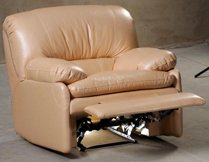 Кожаное кресло Чирз механический реклайнер