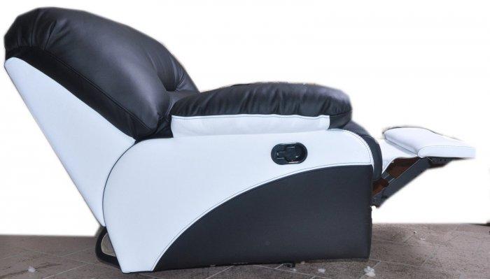 Кожаное кресло Чирз Н глидер-качалка