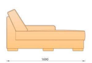 Модуль кожаного дивана Манчестер Шезлонг (Ш 0.78)