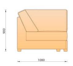 Модуль кожаного дивана Манчестер Угол (Уп108)